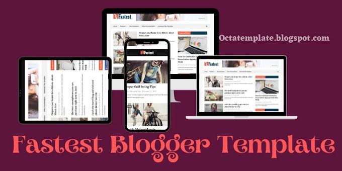 Fastest blogger template | Super fast loading responsive blogger template 2021