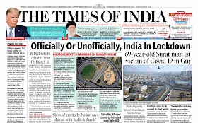 Times Of  India Epaper 23rd  March 2020