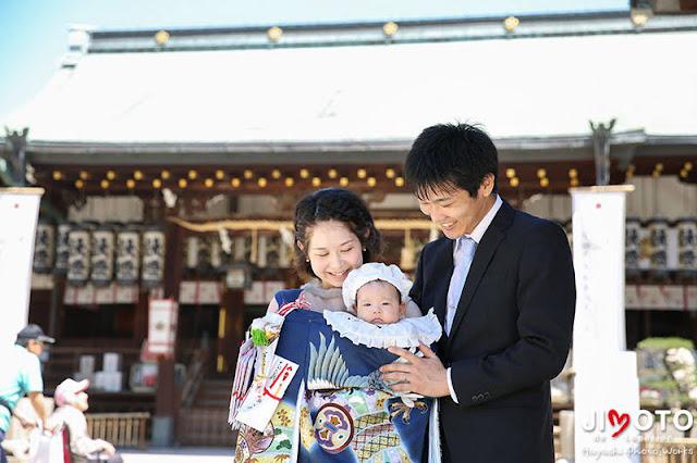 大阪天満宮でのお宮参り出張撮影