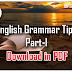 English Grammar Tips Part-I | Download in PDF