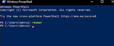 Resource Monitor - Power Shell