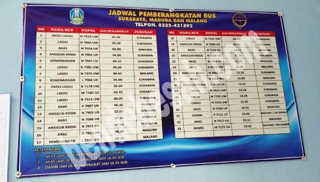 Jadwal Terminal Bus Bondowoso