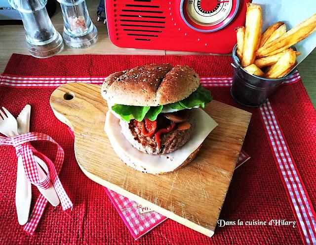 Burger à l'espagnole - Dans la cuisine d'Hilary