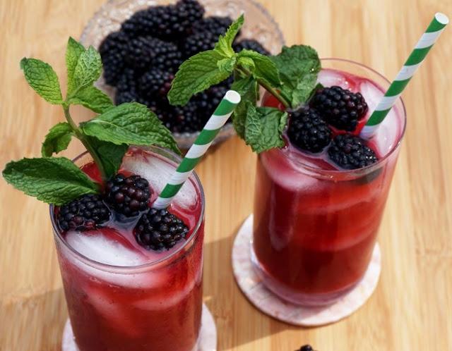 Blackberry Iced Tea #drinks #icedtea