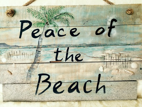 Beach Painting on Wood