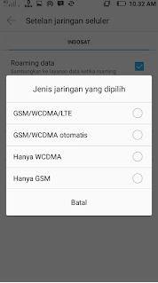 tipe jaringan GMS WCDMA 4G