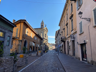 After a wake-up coffee, starting out in Santa Caterina, Bergamo