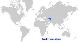Gambar Peta letak Turkmenistan