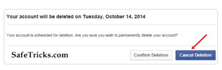 Method to Delete Facebook Account Permanently