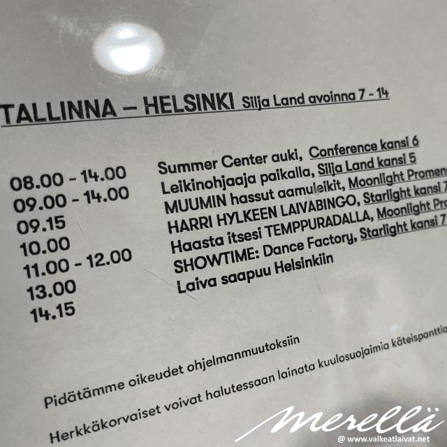 Silja Line lastenohjelma