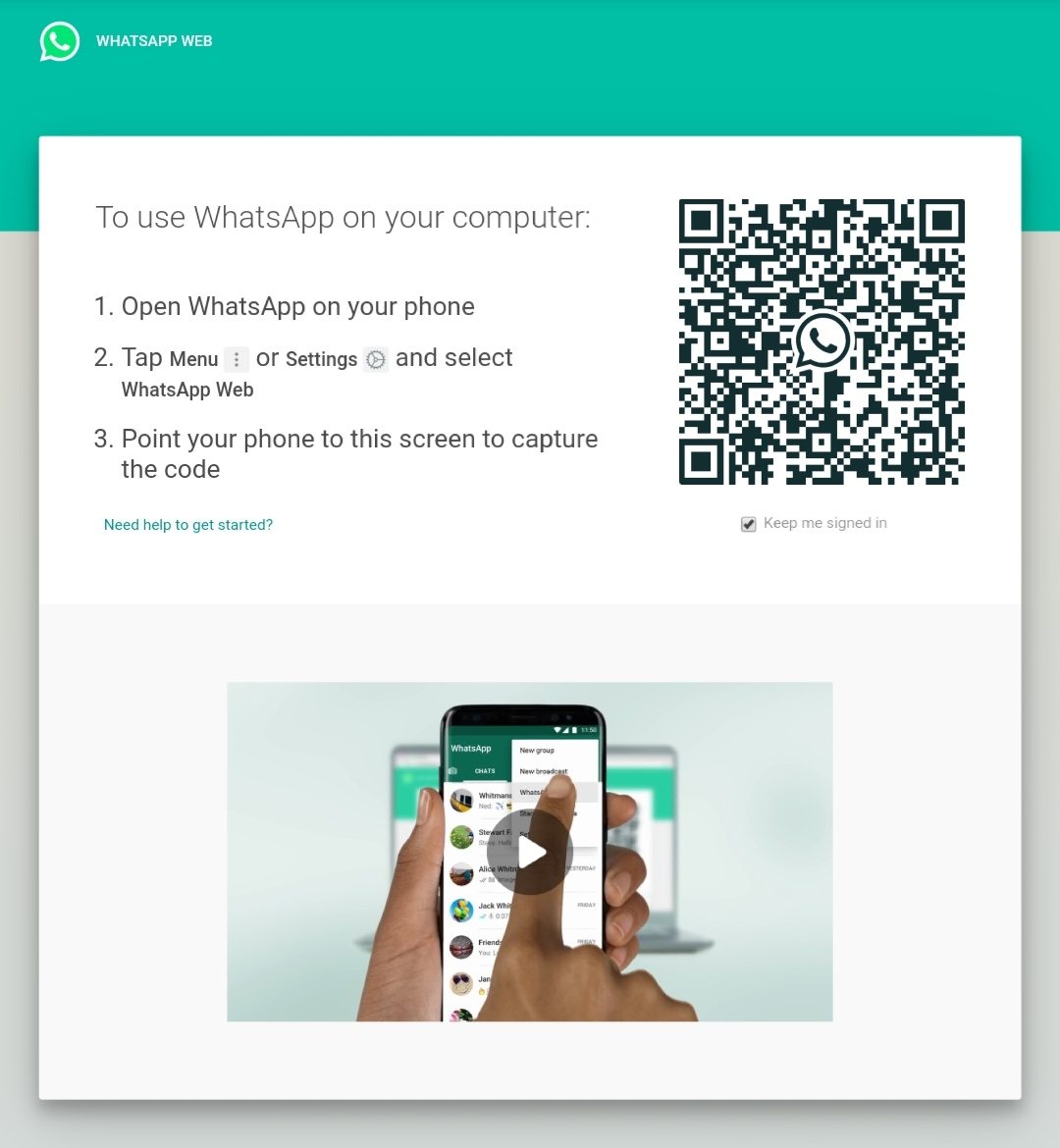 WhatsApp Web – web.whatsapp.com
