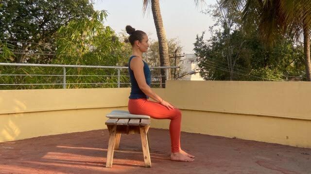 Meditation on a bench