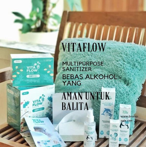 Vitaflow Multipurpose Sanitizer Bebas Alkohol Aman Untuk Balita
