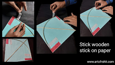 How to make kite, step by step method to draw for to make kite,easy tutorial for to make kite, step by step method for to make kite, how to make kite on Makar Sankranti festival, Makar Sankranti kite,