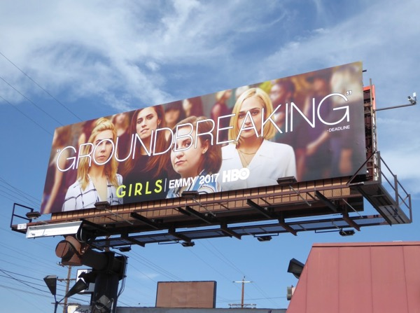 Girls Groundbreaking 2017 Emmy FYC billboard