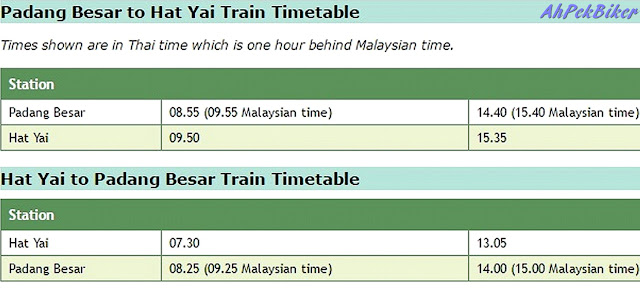 Image result for time schedule for hatyai train from padang besar