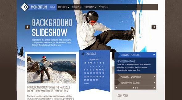 Momentum WordPress Template