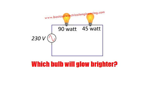 two-light-bulbs-of-90-watt-and-45-watt-are-connected-to-a-230-volt-source-which-one-will-glow-brighter