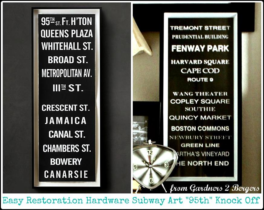 from Gardners 2 Bergers: Easy Restoration Hardware Subway ...