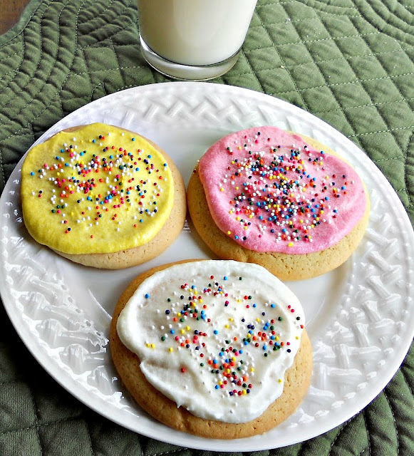 Sugar cookies with buttercream frosting