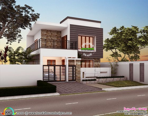 1250 sq-ft simple modern style small house