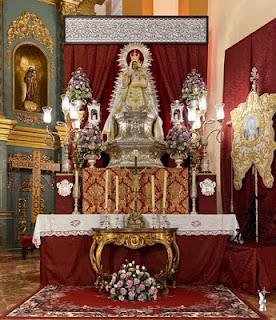 La Virgen de Belén de Córdoba trasladada a la Parroquia de San Francisco para el novenario en su honor