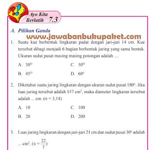 Jawaban MATEMATIKA Kelas 8 Ayo Kita Berlatih 7.3 Halaman 91 92 93 94 95 www.jawabanbukupaket.com