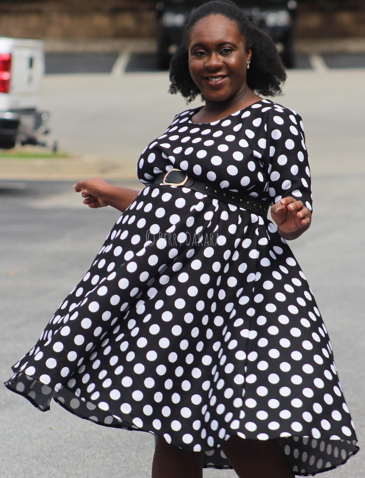 maternity, pregnancy, baby shower, dress, baby shower dress, maternity dress, pregnancy fashion, black and white maternity dress, polka dots dress, dresses for baby shower, tea party baby shower