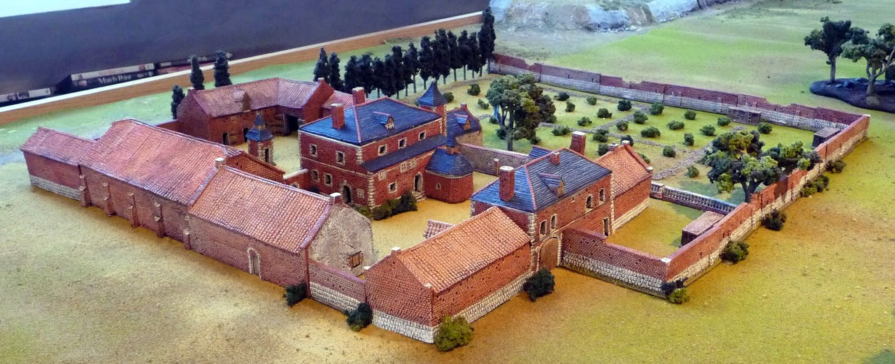 Another model of Hougoumont Château
