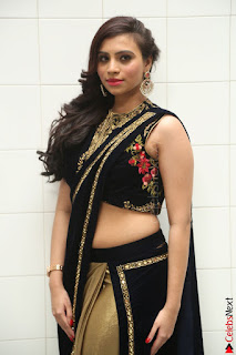 Priyanka Ramana in Beautiful Designer Black Saree At We Craft Elegance Expo Launch 028.JPG