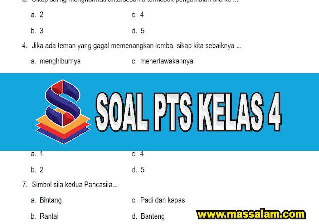 Download Soal PTS Kelas 4 Tema 1 Subtema 3 & Tema 2 Subtema 1 Terbaru