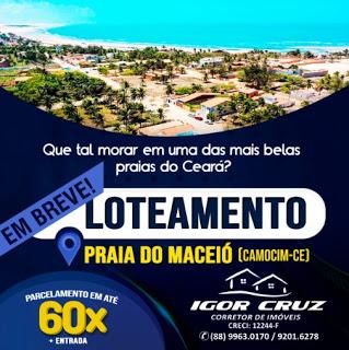 Venda de loteamento na Praia do Maceió, em Camocim , com o corretor Igor Cruz