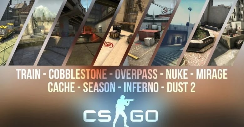 What are the most popular maps in Counter-Strike: Global Offensive