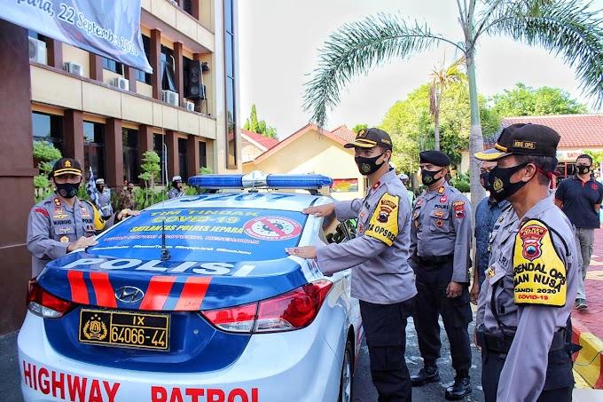 Polres Jepara ~ Peringati HUT lantas Ke 65 Dan Launching KBM Tim Tindak Covid-19