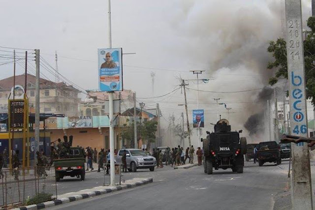 UPDATE: Two explosions go off at a hotel popular with politicians in Somalia