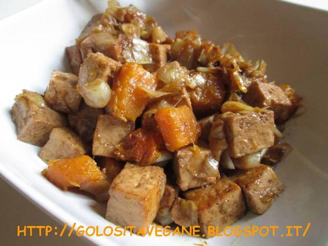 abbastanza Golosità Vegane: Dadolata affumicata di tofu e zucca ZQ77