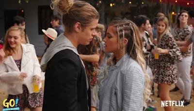 Foto: Mia e juanma quase se beijando - Trailer Go! A festa Inesquecível