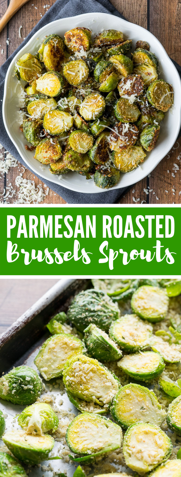 Parmesan Roasted Brussels Sprouts #vegetarian #vegetables