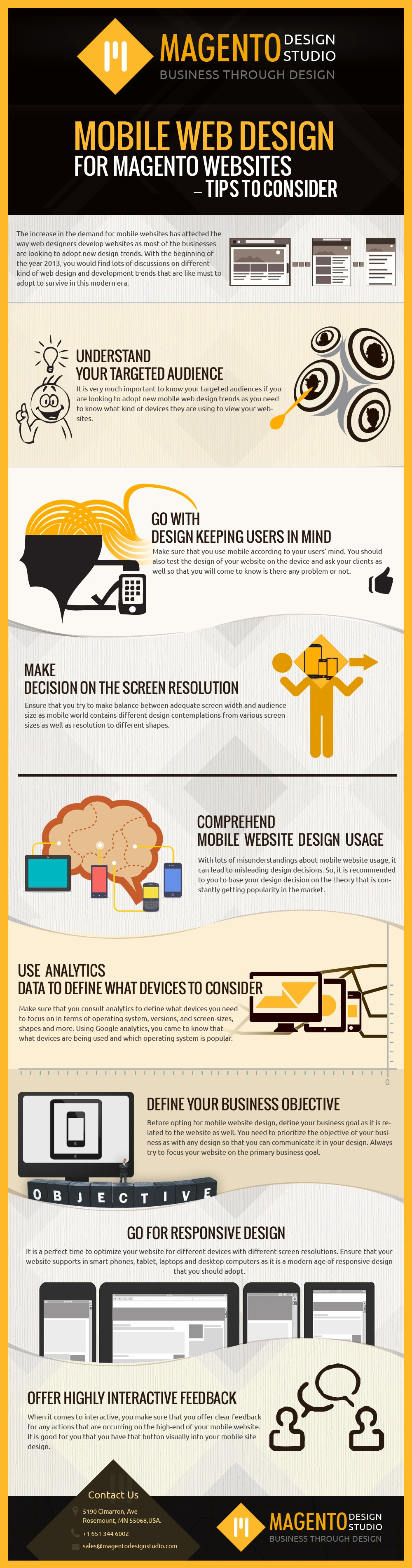 Top Mobile Web Design Tips #Infographic