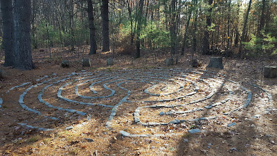 the labyrinth at the First Universalist Society on a sunny morning in November 2016
