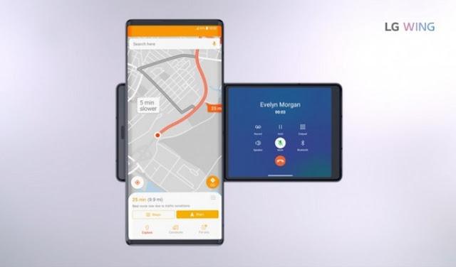 LG Luncurkan Smartphone 5G Dengan Dua Layar Bisa Diputar