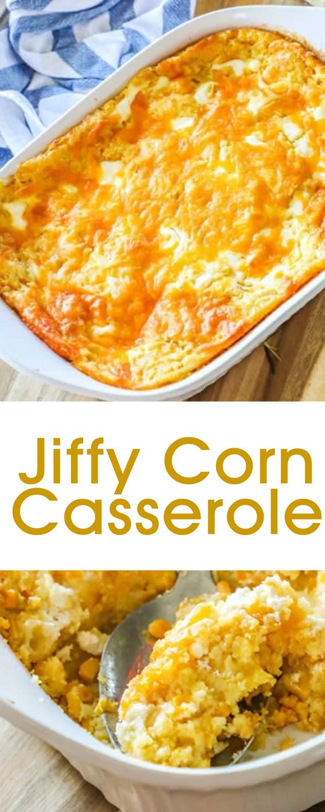 Jiffy Corn Casserole #casserole