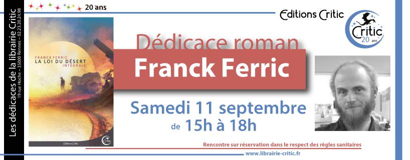 Signature à la libriaire Critic (Rennes)