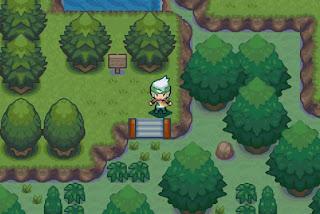 Pokemon Emerald Beautiful Remade para GBA Bosque Petalia
