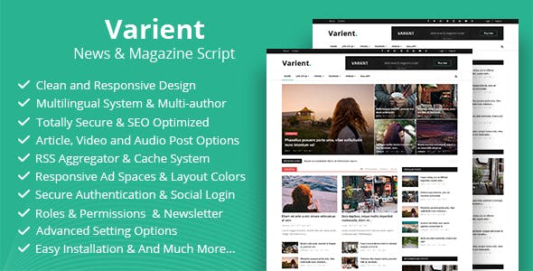 Varient v1.5.5 - News & Magazine Script - nulled