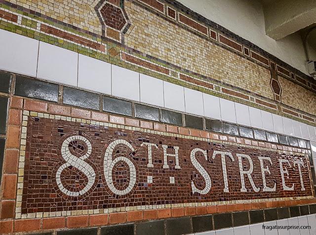 Estação de metrô na Rua 86, Nova York