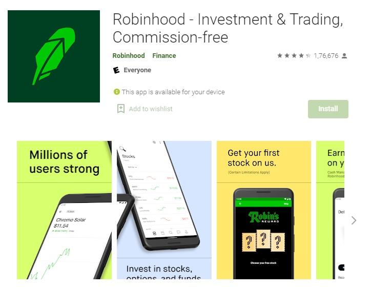 Robinhood App : Commission-free Investment & Trading.
