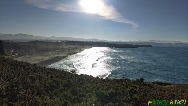 Vista de la playa de Xagó