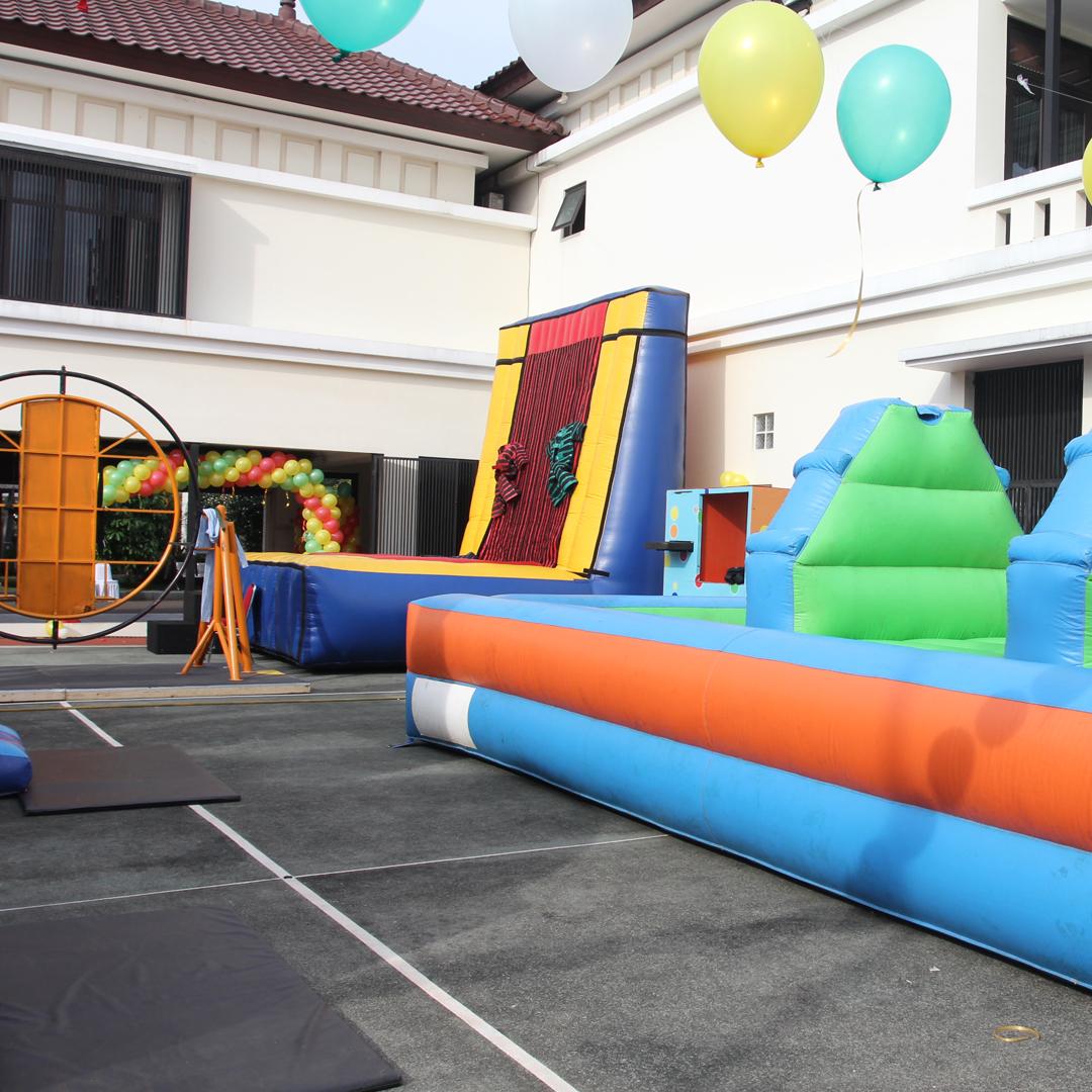 Sewa Mainan Anak Remaja Dewasa Bouncer Inflatable Rodeo Family Gathering Casino Fun Outbond Game Ulang Tahun Lomba Seru Rame Rame Games ulang tahun dewasa