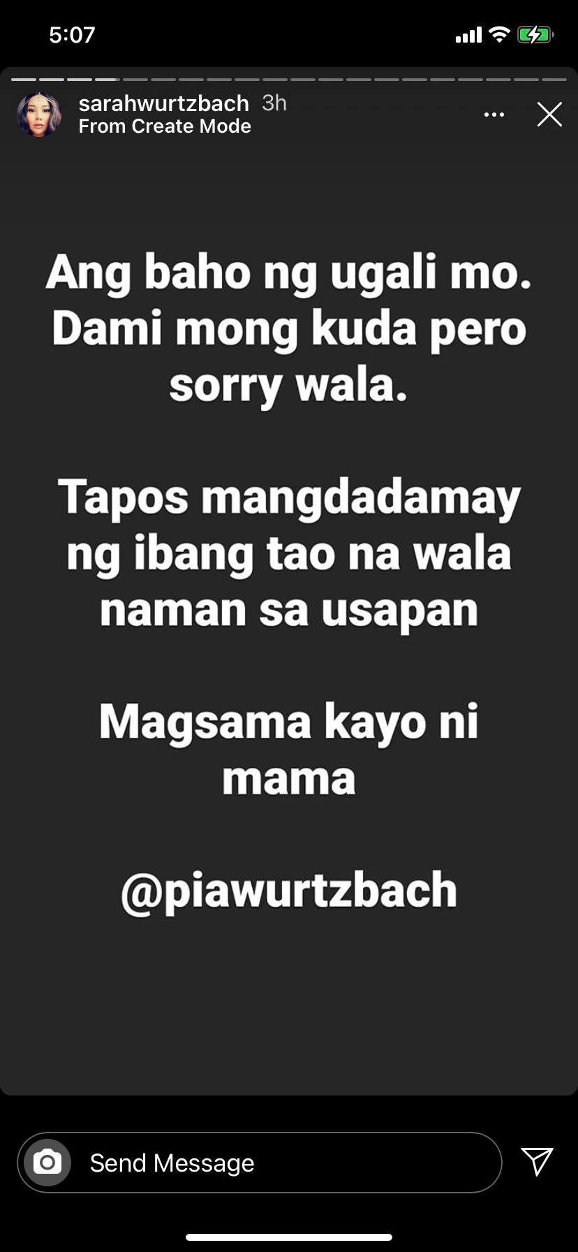 Pia Wurtzbach's sister lashes out